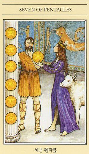 Tarot Guidance for Wednesday 8 March 2017: 7 of Pentacles